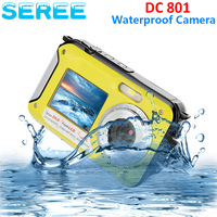 Seree 2.7inch TFT Digital Camera Waterproof 24MP MAX 1080P Double Screen 16x Digital Zoom Camcorder Video Recorder