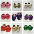 Handmade Handsome Boys Girls Baby Soft Soled Pue Leather Shoes Prewalker Baby Newborn Infant Moccasin Bowtie Sapatos Shoes
