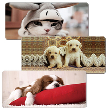 Cute Animal Print PC Rubber Locked Edge Large 90x40cm XL Size Desk Mat Laser Mouse Mice Mousepad Pads Keyboard For Starcraft
