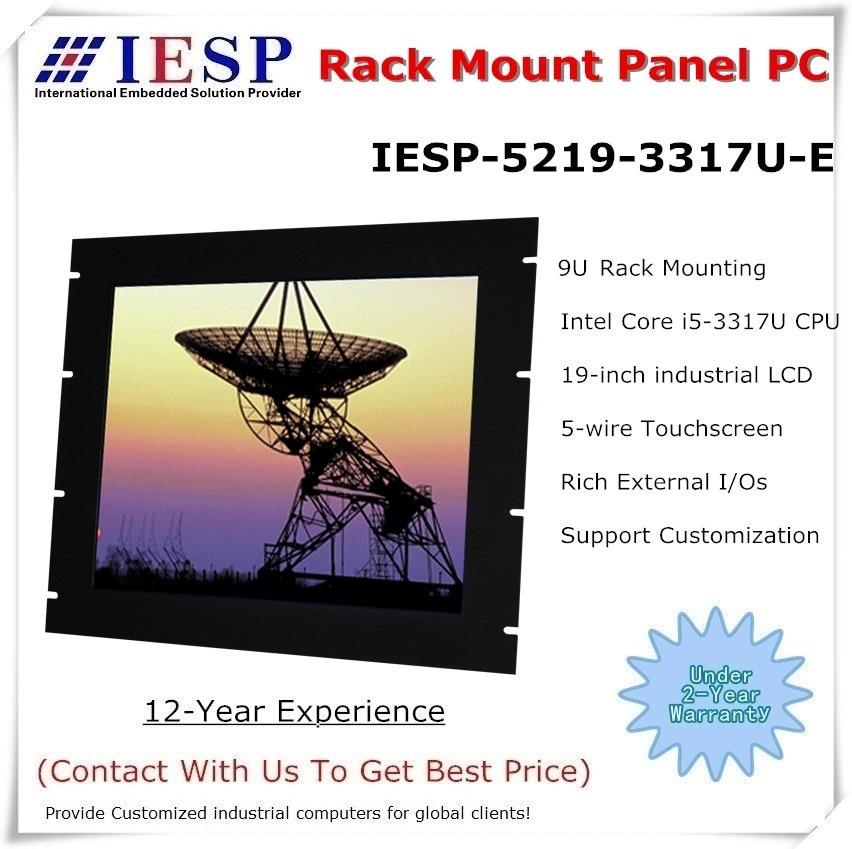 Rack Mount Industrial Panel PC, 19 Inch LCD, Core I5-3317U CPU, 4GB DDR3 RAM, 500GB HDD, 4*RS232, 4*USB, Industrial HMI, OEM/ODM