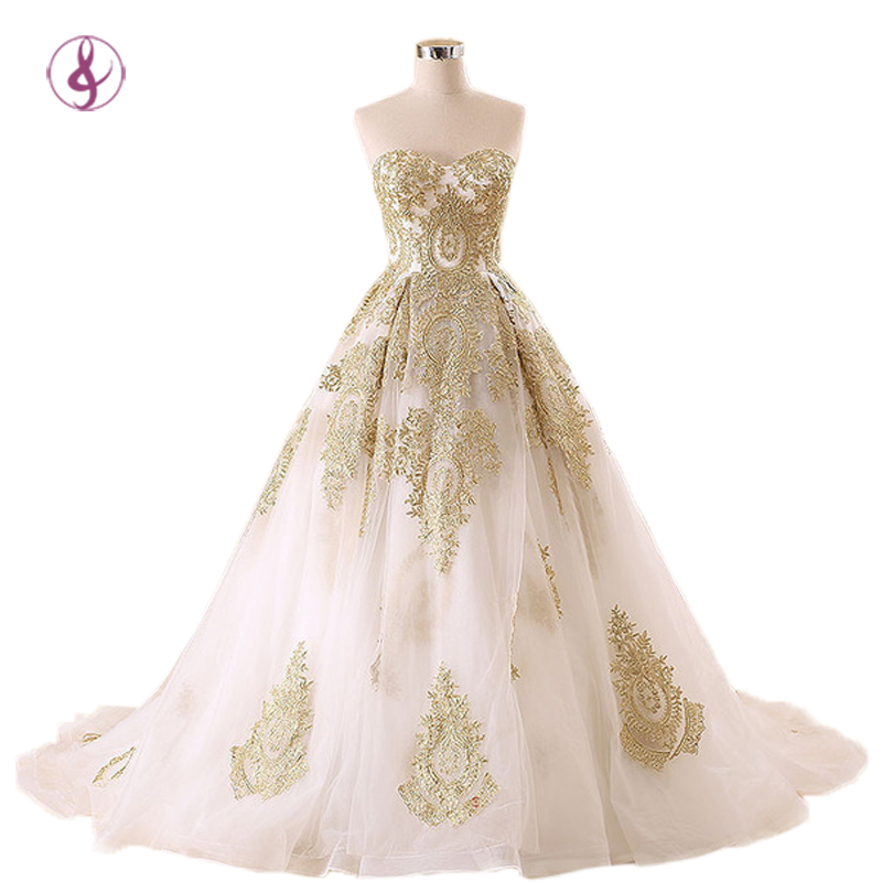Online get cheap gold wedding dresses for White and gold wedding dresses