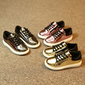 2016 Новая Мода детская одежда обувь chaussure enfant ИСКУССТВЕННАЯ Кожа кроссовки с Молнией tenis masculino esportivo обувь для девочек мальчиков обувь