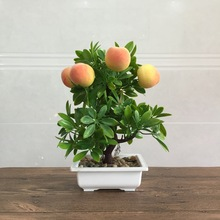 Simulation of potted plant new year's new fruit tree bonsai home decoration simulation flower suit technology home decoration fruit simulation bonsai simulation decoration artificial flowers fake green potted plant decorations c