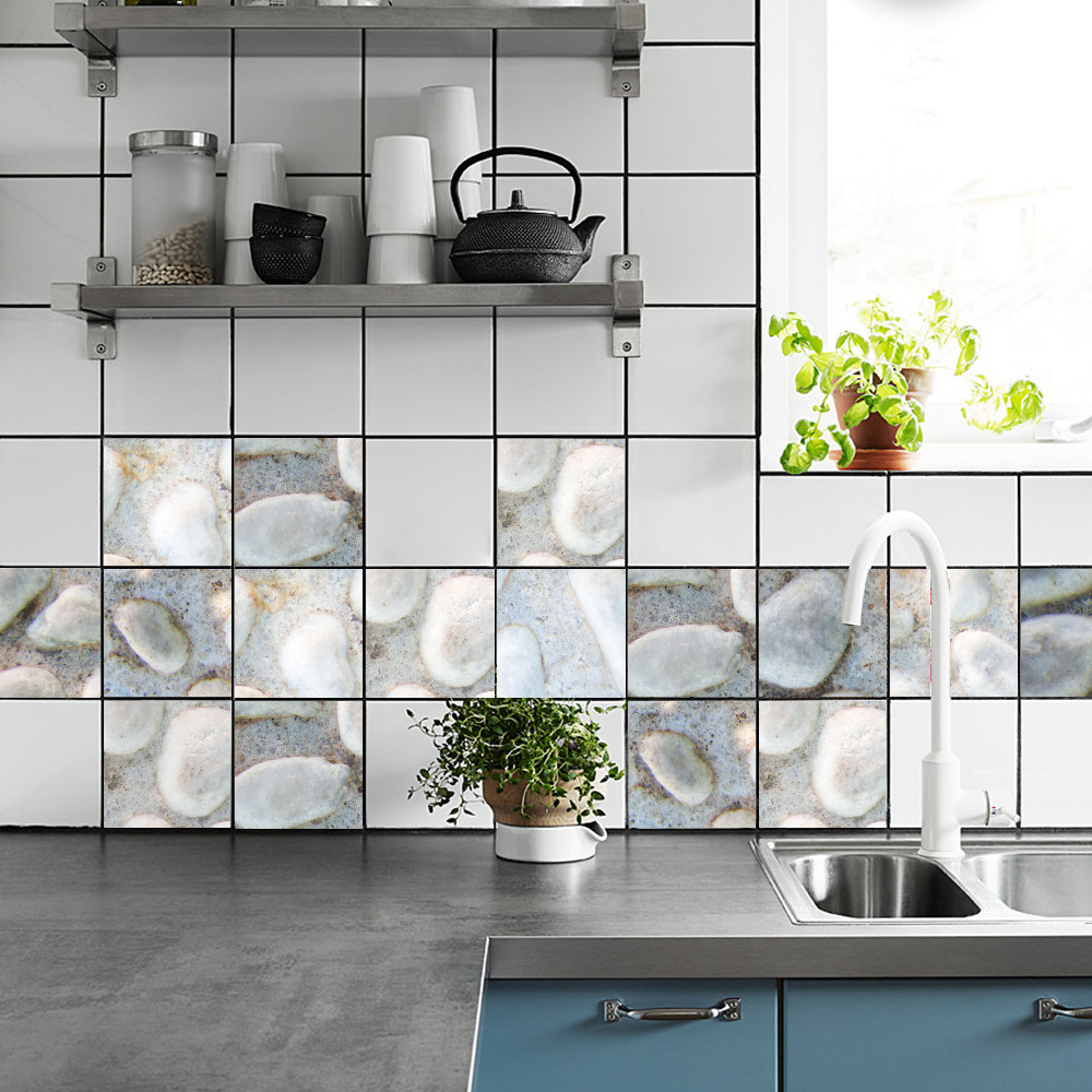 Funlife High end new imitation 3D Pebble kitchen bathroom ceramic ...
