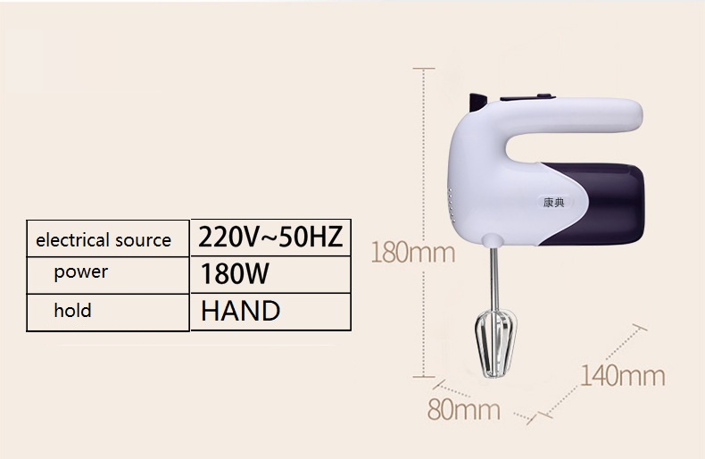 New Egg Beater 5 grade Handheld Household Multi function Electric Egg beater Kitchen Appliance Gadgets Mixing Tool in Egg Beaters from Home Garden