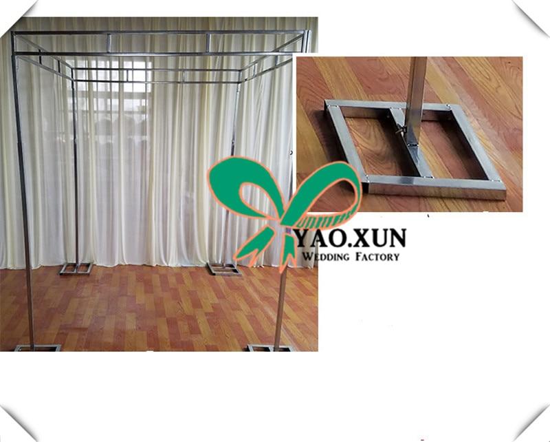 Регулируемый нержавеющая сталь свадебный фон стенд четыре угловой шторы рамки трубы Проволочная Подставка квадратный стенд полюс