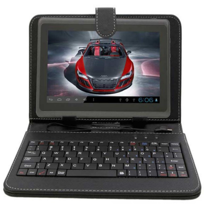цена на 7 inch Android Tablet PC Quad Core Aliexpress kid gift tablet pc free keyboard cover sa gift