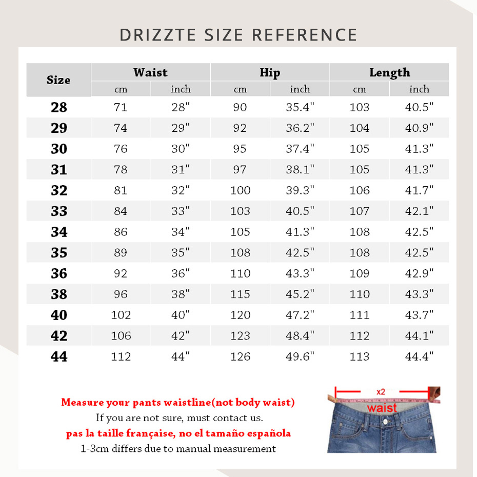 Drizzte Mens Jeans New Fashion Designer Plus Storlek 33 34 35 36 38 - Herrkläder - Foto 2
