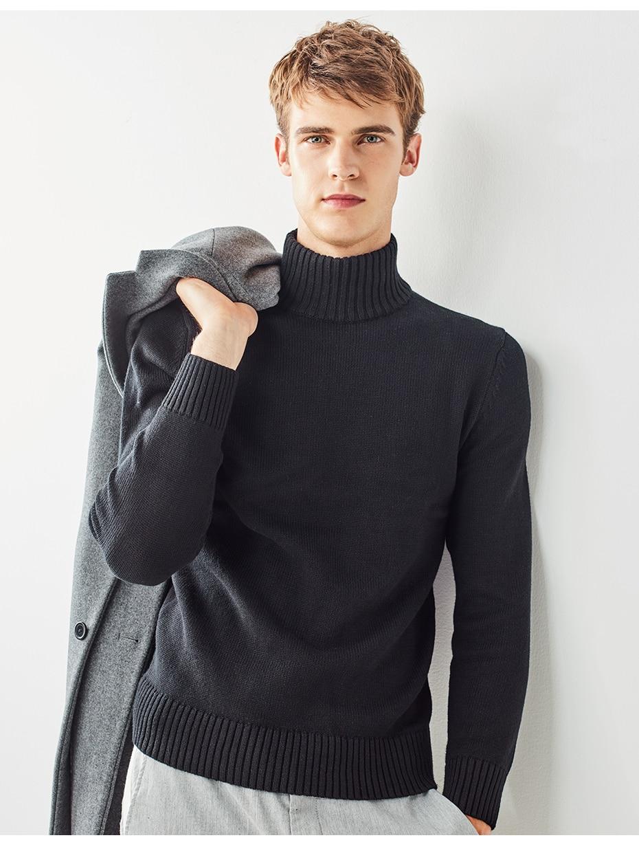 Giordano Männer Pullover Männer Dicke Rollkragen Pullover Männer ... 9e2b356776