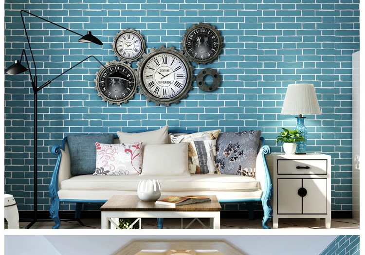Vintage Embossed Wallpaper Brick Wall Roll Modern Grey White 3D Effect Brick Wallpaper For Walls,Living room Background Covering chinese style vintage 3d effect grey brick wallpaper roll modern wall coverings tan vinyl embossed wall paper background w527