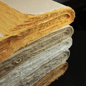 Image 3 - Chinese schilderen rijstpapier halve ruwe schets papier vier voeten kalligrafie schilderen Handgemaakte Verpakking papier 138*70 CM hoge kwaliteit