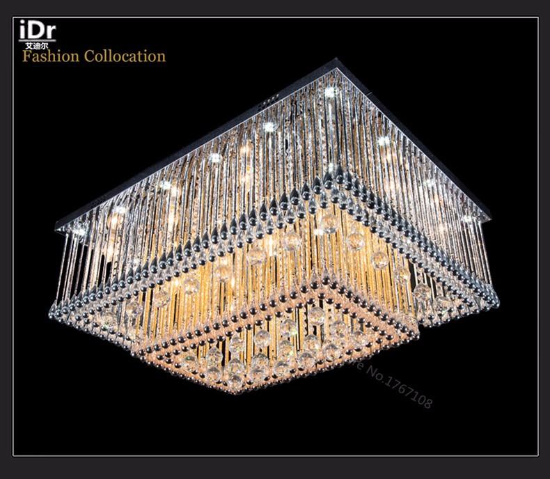 Schimmernde Kristall Decke Hochwertigen Licht Wohnzimmer Lampe Led Kristall Quadrat Hotel Schlafzimmer Home Hohe Decke Deckenleuchten Ceiling Lights Crystal Ceilinglight Living Aliexpress
