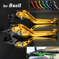 CNC Aluminum Motorbike Levers Motorcycle Brake Clutch Levers Foldable Extendable Adjustable For Buell M2 Cyclone 1997 2002