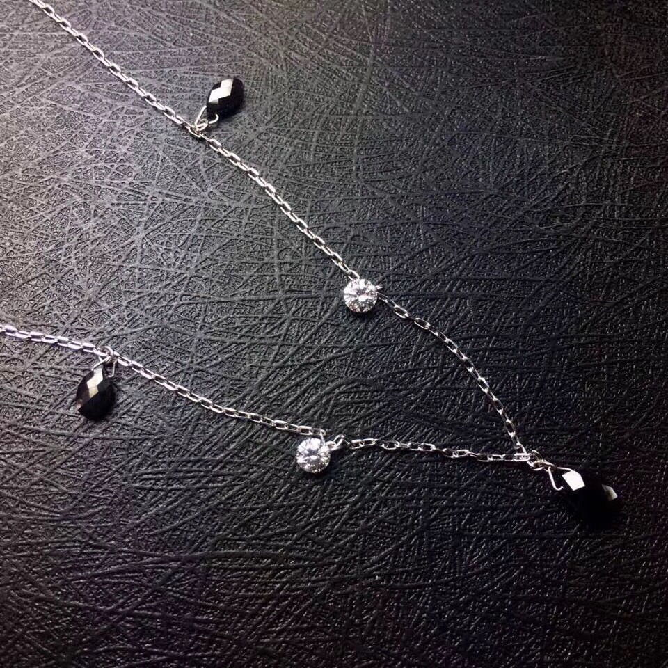 Black Diamond Necklace Pure 18 K Gold Jewelry Real Diamond 1.36ct Females Classic Cross Diamonds Jewelry NecklacesBlack Diamond Necklace Pure 18 K Gold Jewelry Real Diamond 1.36ct Females Classic Cross Diamonds Jewelry Necklaces