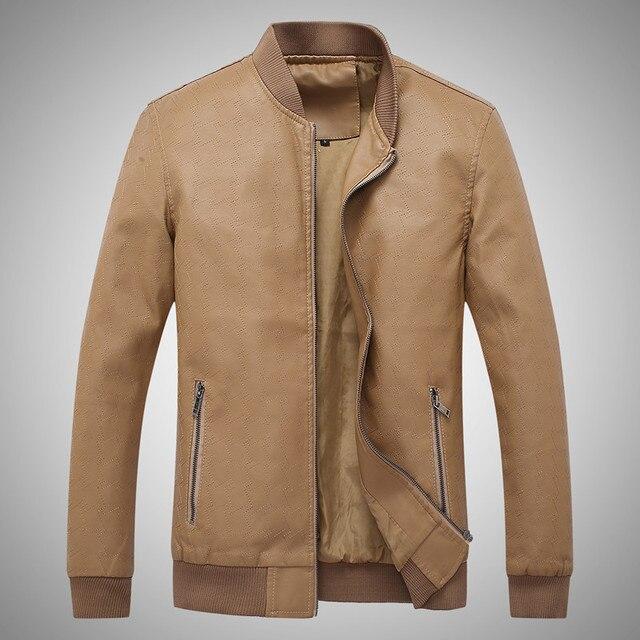 2017 Весной и Осенью мужские Кожаные Куртки Ветровки Повседневная Одежда Пальто Бесплатная Доставка