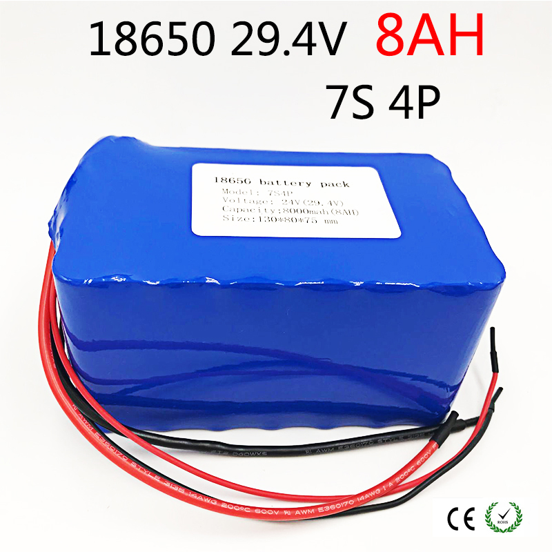 все цены на Laudation 24V 8ah Electric bicycle Lithium Ion Battery 29.4V 8000mAh 15A BMS 250W 24V 350W 18650 Battery Pack Wheelchair Motor онлайн