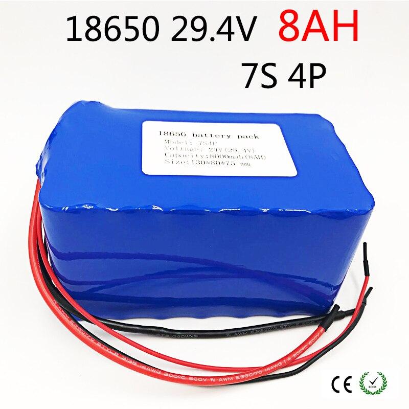 Louanges 24 V 8ah vélo Électrique batterie lithium-ion 29.4 V 8000 mAh 15A BMS 250 W 24 V 350 W 18650 bloc-pile Fauteuil Roulant Moteur