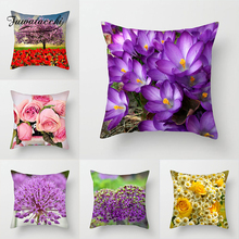 Fuwatacchi Flower Painting Cushion Covers Sundial Floral decorative pillows Rose throw