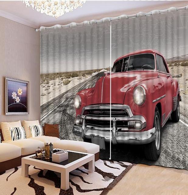 Moderne 3D Gedruckt Blackout Vorhänge Rot Auto Kinderzimmer Vorhang 3d  Küche Vorhänge Für Wohnzimmer Fenster Dekoration
