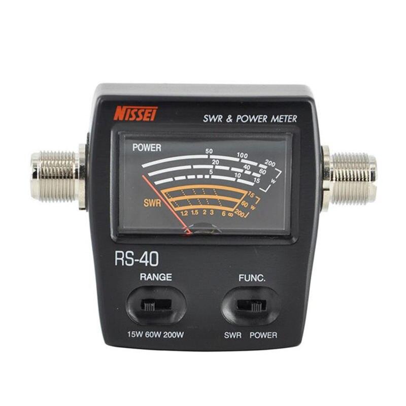 Rs-40 Swr/Power Meter 140-150Mhz 430-450Mhz 200W For Walkie Talkie NisseiRs-40 Swr/Power Meter 140-150Mhz 430-450Mhz 200W For Walkie Talkie Nissei