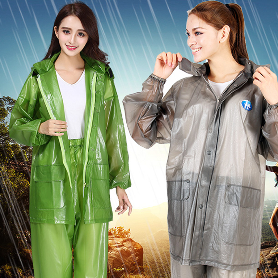 rain jacket  Waterproof Windproof Cape Clear Transparent Men Raincoat long raincoat Women Overalls Chaqueta Rainwear 6R0121