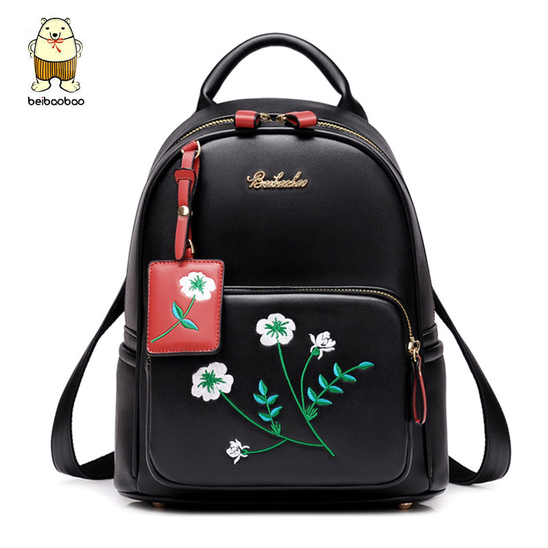 Beibaobao Embroidery Flowers Backpacks For Teenage Girls Fashion Leather Backpacks Good Quality Fashion Women Backpacks B175Beibaobao Embroidery Flowers Backpacks For Teenage Girls Fashion Leather Backpacks Good Quality Fashion Women Backpacks B175