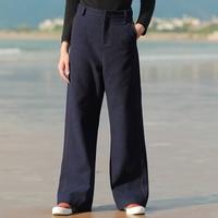 IRINAW157 2018 AW коллекция оригинальный дизайн повседневные длинные шерстяные джинсовые свободные штаны женские