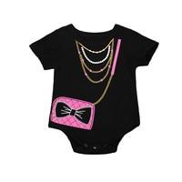 Pudcoco Newborn Infant Kids Clothes Baby Girls Cute Bow Bodysuit Jumpsuit Outfit Sunsuit Clothes