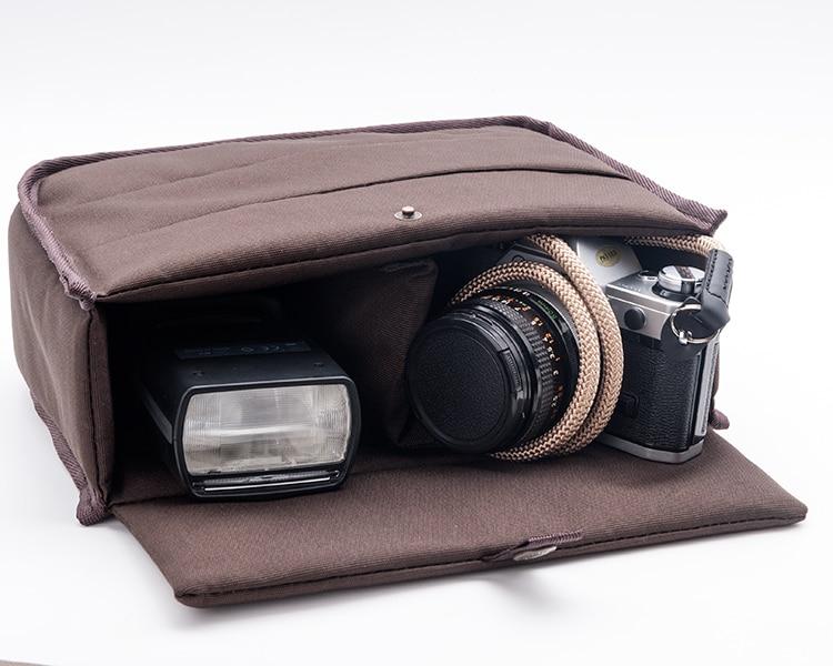 как вставить фотоаппарат в сумку именно