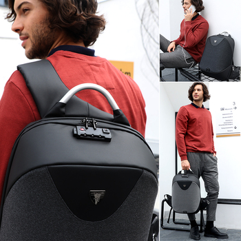 ARCTIC HUNTER New Anti-theft 15.6 Laptop Men Bag School Password Lock Backpack Waterproof Casual Business Travel Male Backpacks 1