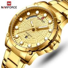 NAVIFORCE Top Brand Luxury Watches Men Stainless Steel Waterproof Watches Men Gold Quartz Men s Wrist