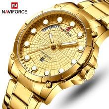 NAVIFORCE лучший бренд класса люкс часы для мужчин нержавеющая сталь водонепроницаемые часы для мужчин золото кварцевые наручные часы Relogio Masculino