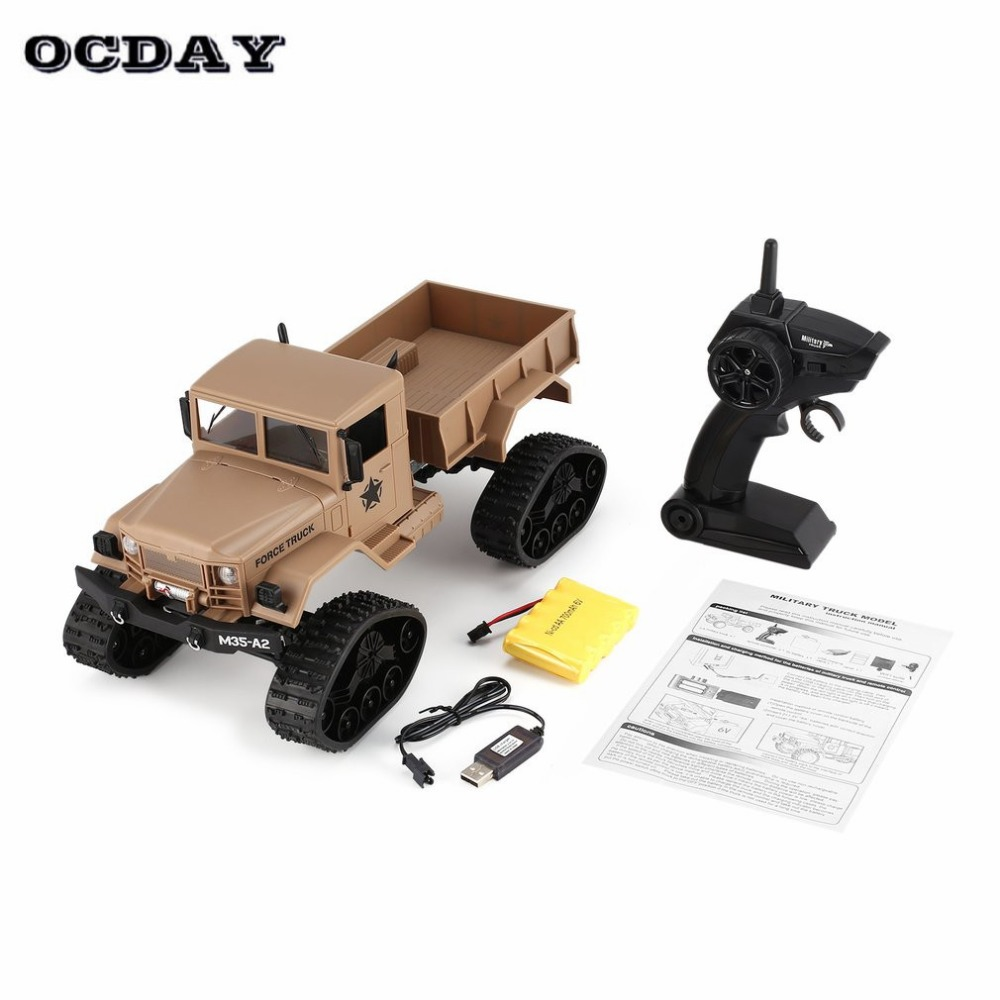 Rc-lastwagen Fy001b 2,4 Ghz 1/16 4wd Raupe Off-road Rc Military Truck Climber Crawler Rc Auto Mit Front Licht Für Kinder Spielzeug Geschenk Fernbedienung Spielzeug
