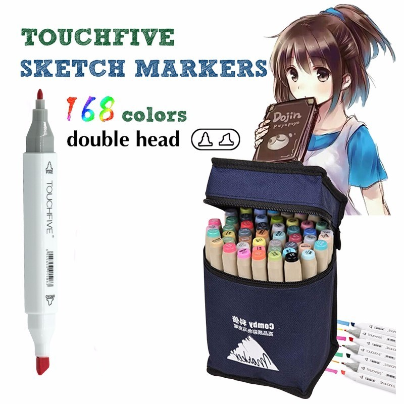STA Professional Marker 1mm/7mm Alcoholic oily based ink Marker Set For Manga Dual Headed Art Sketch Marker White body promotion touchfive 80 color art marker set fatty alcoholic dual headed artist sketch markers pen student standard