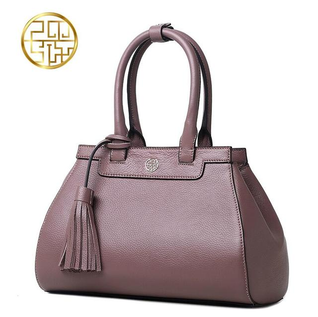 2017 New Pmsix Superior cowhide fashion mother  women bag genuine leather handbags tote shoulder bag women's bag