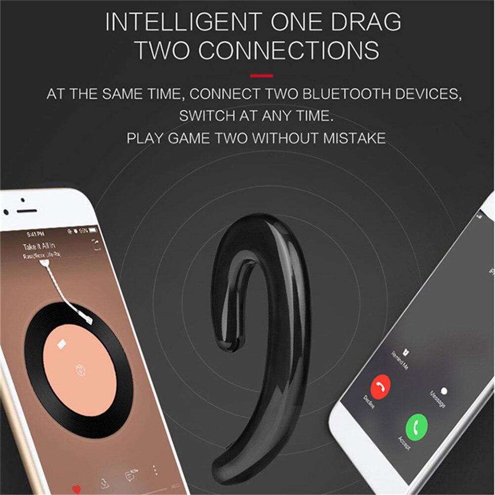 US $10 34 20% OFF|K8 Universal Business Type Bluetooth Ear Hook Earphones  Headset Wireless Bone Conductor Without Earplugs-in Bluetooth Earphones &