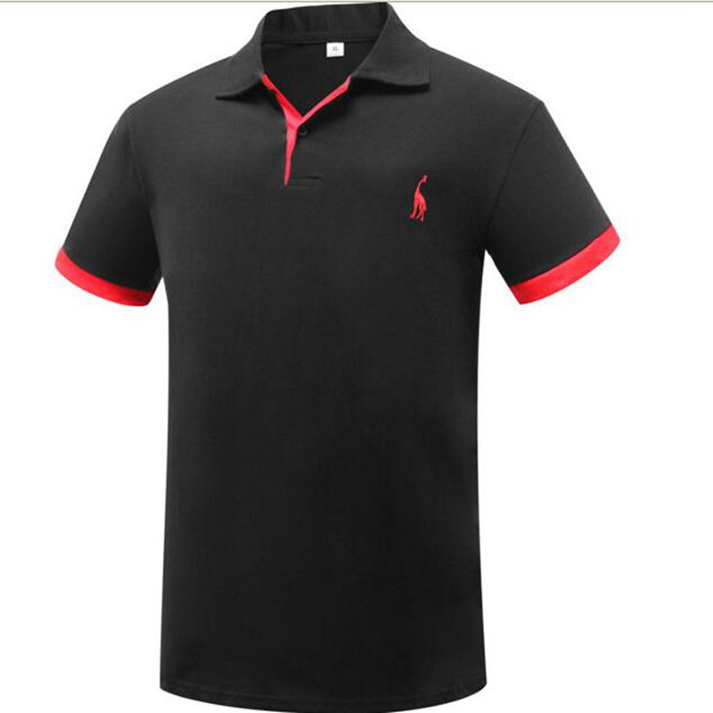 Europe size Summer Solid   Polo   Shirt Men Cotton Print Casual   Polos   Breathable Embroidery Shirt Mens Clothing