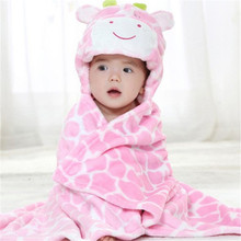 Cute Animal Shape Baby Bath Towel Hooded Newborn Bathrobe neonatal hold Toddler kids blanket towels for Infant Cloak