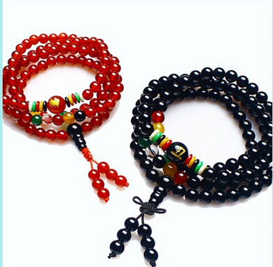 Ubeauty 6mm 108  agate crystal beads Buddha  bracelet for Meditation women necklace fashion jewelry gift free shipping