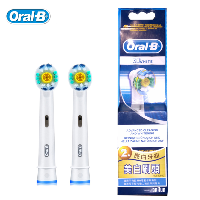 Oral B Brush Heads EB18 3D White Toothbrush Heads for Adult Electric Toothbrush Dental Care Deep Clean Replaceable Heads 1pack eb 25a model replacement electric toothbrush head eb25 cleaning tool fit for braun oral b tooth brush heads