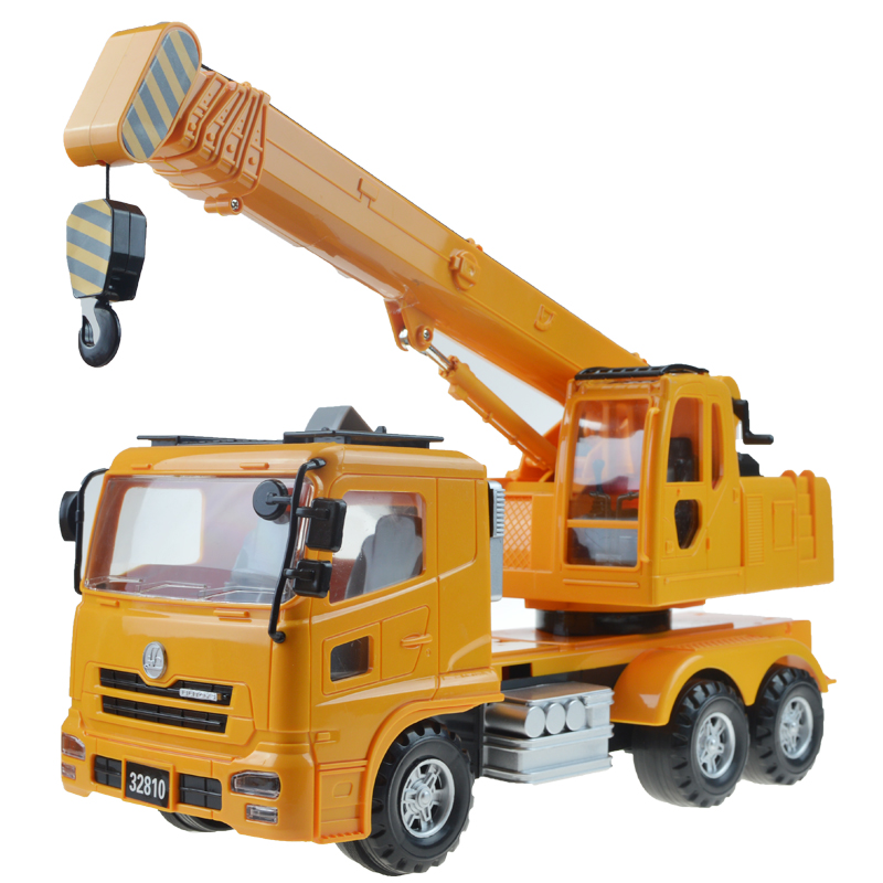 1 Pcs Alloy Sliding Construction Crane Model Toy Educational Toys Truck Crane Vehicle Puzzle Simulation Toys For Kids Boys Child