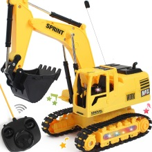 Rc Excavator Set 4wd Remote Control Toys Boy Nitro Hydraulic Bulldozer 2.4ghz Car Toy Trucks Radio Educational