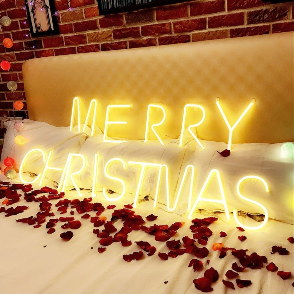Icoco led wall hanging neon light l to v letters shape for festival ...