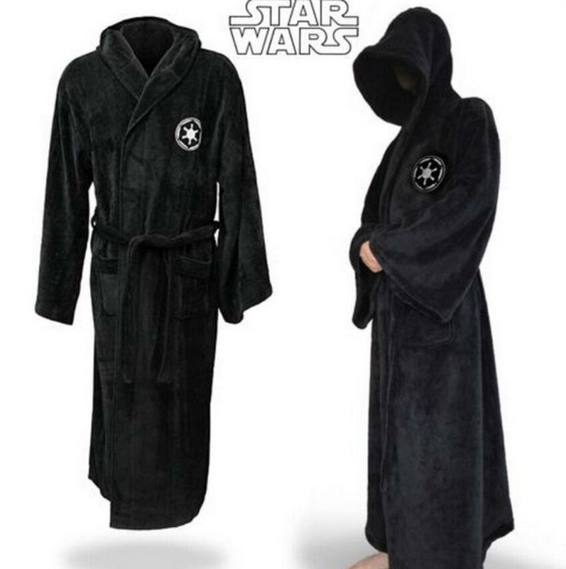 Star Wars Adult Brown Jedi/Black Sith Robe Men Bathrobe Cape Cloak Costume