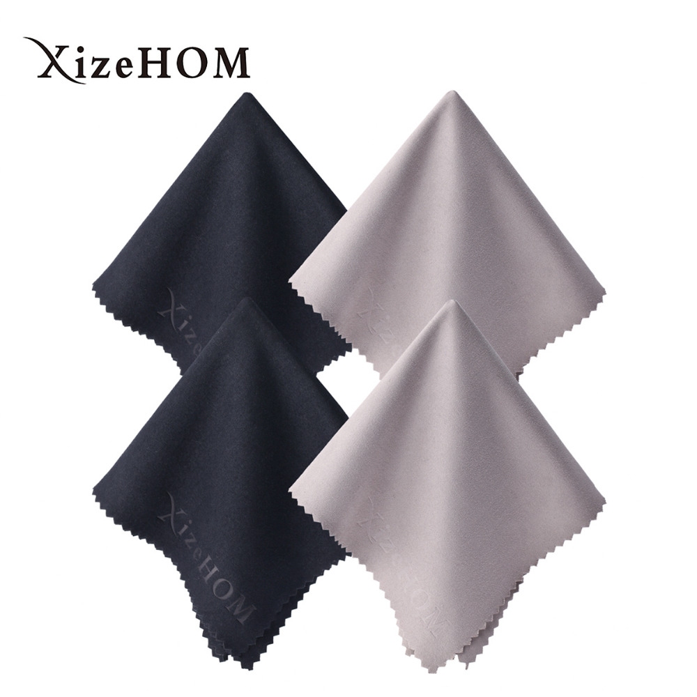 XizeHOM (40*40cm/4pcs) Large Microfiber Cleaning Cloth for All Eyeglasses, Glasses, Camera Lens, Household Cleaning Tools