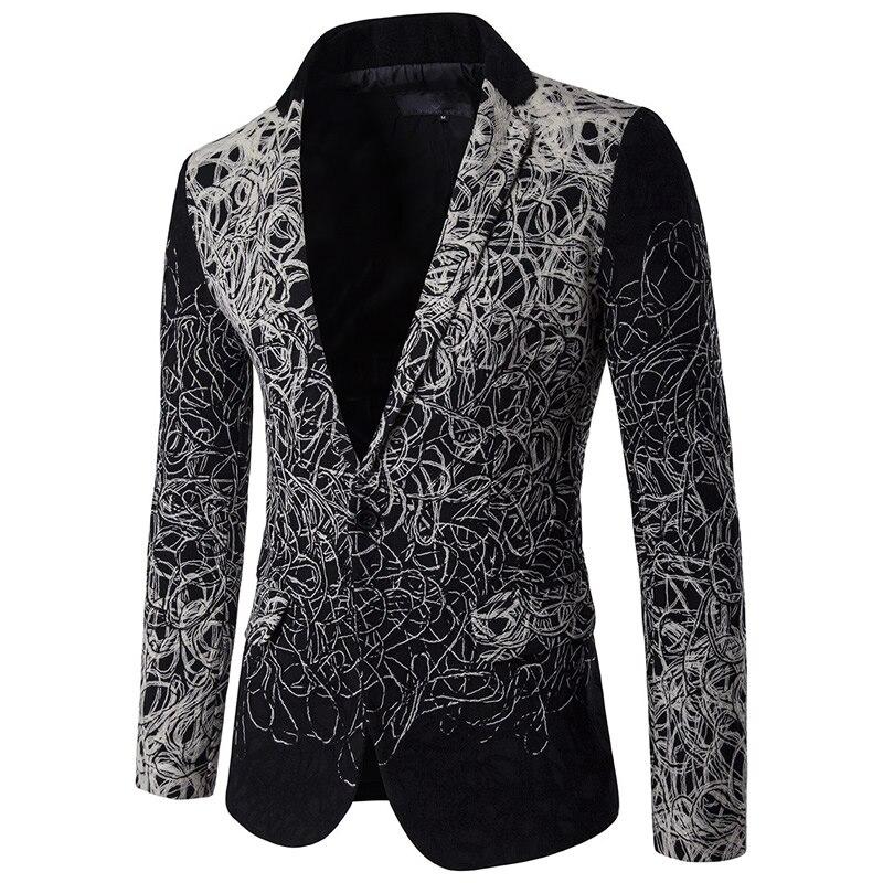 Online Get Cheap Black Floral Suit Jacket Men -Aliexpress.com ...