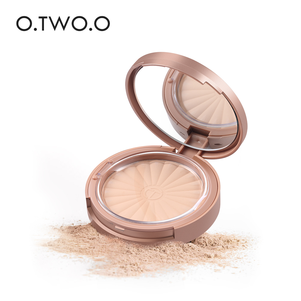 O TWO O Brand Rose gold powder cake lasting oil control bottom makeup dry and wet makeup base 8 color makeup