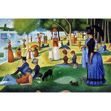 Знаменитые работы Жорж сеурат картины в День Воскресенья на остров La Grande Jatte масло на холсте Ручная роспись