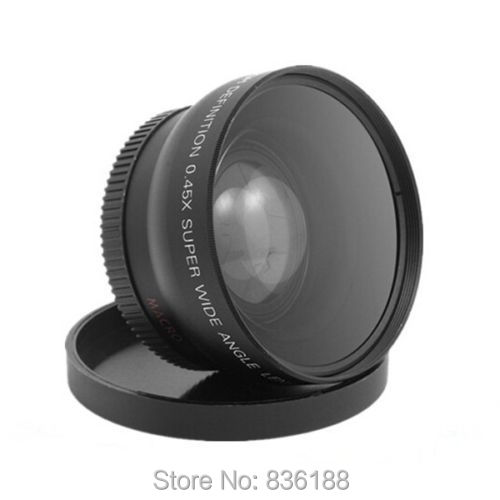 62mm 0.45x HD Grand Angle Macro Conversion Lens pour Nikon Canon Pentax Appareil Photo REFLEX