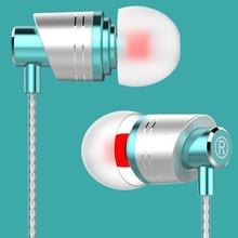 цена на Metal Headphone In-Ear Earphone with Mic Handsfree Music Earbuds Gaming Headset for Phone iPhone Samsung Xiaomi  Fone de ouvido